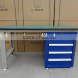 Workplace Steel Work Desk Table With Drawers