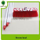 Household cleaning tools sweeping coconut brooms with wood handle stick