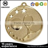 cheap customized hollow out casting embossed iron brass zinc alloy material imitation gold plated badminton sport medal
