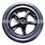 injection molded hard plastic wheels Small foaming nylon wheel Plastic solid wheel