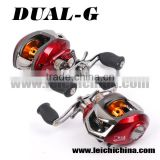 Magnetic & Centrifugal Dual brake system bait caster reel