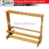 92cm*29cm*63cm Bamboo Fishing rod display shelf of 30pcs, for shops, stores or exhibition