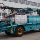 Concrete wet spraying trolley