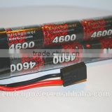 Nimh battery pack : EP power 9.6V 4600mAh high power shotgun hump for rc cars with tamiya connector