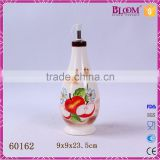 Kitchen custom glazed ceramic oil and vinegar bottle