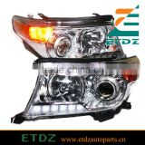 Headlight With Projector Lens 2008 to 2013 Year For Toyota Land Cruiser FJ200 Chrome Housing