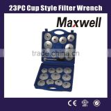 23PC Cup Style Filter Wrench