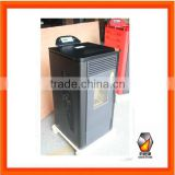Pellet stove with boiler heating water with CE