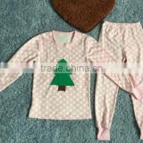 2017 baby girls children sleepwear ruffle pants long sleeve striped outfits with pajamas knit cotton clothing sets