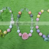 Children Boutique Necklace Flower Pearl Colorful Necklace Baby Girl Party Necklace