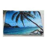 Blue Anti slip water absorbing floor mats for Kitchen / living room , Coconut Tree Pattern
