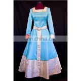 Fantasia Anime New Arrival Custom Made Princess Merida Blue Dress Sexy Carnival Halloween Dress Costume For Party Ball Gown