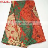 Good quality multi color latest french net lace for wedding dresses