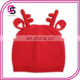 2017 autumn and winter warm children's hat Christmas small antlers baby knitted caps