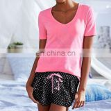 Ladies soft Short Pajamas in summer