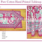 INDIAN HAND BLOCK PRINTED TABLE CLOTH , Napkin & Placemats