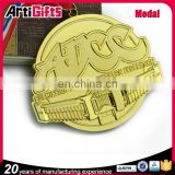 Gold plating stand medal