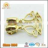 Wholesale Custom Garment Accessories Jacket Gold Metal Butterfly Zippers