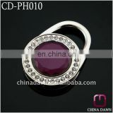Promotion diamonds cabide saco with purple crystal CD-PH010