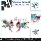 2017 Hot Sale Fashion Applique Embroidery Bird Patch with Sequins and Beads