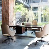 Modern medium back leather ergonomic office swivel chair