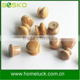 Natural material drawer wood door handles small round wooden knobs                                                                         Quality Choice