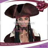Wholesale Pirates Caribbean Jack Sparrow halloween hats Costume Accessories wigs Party hat