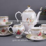 Bone China Tea sets with Butterfly and Flower design