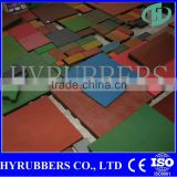 Red Green Color Differen Thickness Rubber Tile Floor Mat for Outdoor Playground