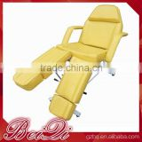 Adjustable Yellow Used Massage Chair, Oil Lubricant Facial Spa Bed,Beauty Equipment Tatto Chair