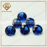 Low price loose gemstone round shape 113# blue synthetic spinel for jewelry