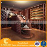 Retailer store wood dislay cabinet for wine bottle stand make in China