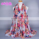 Latest Flower Printed Fashion Islamis Muslim Hijab                                                                         Quality Choice