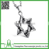 Fashionable men star pendant stainless steel costume jewelry metal pendant necklace wholesale                                                                                                         Supplier's Choice