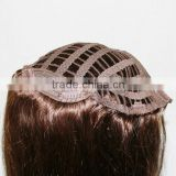 human hair silk and soft half wig clip in hair extensions