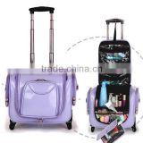 China wholesale pu leather trolley luggage factory,light weight clothing storage box,multifunction suitcase