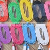 China wholesale flat colored micro usb cable with mobile phone