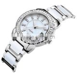 2015 Elegent charming and competitive price lady's watch stainless steel with ceramics wristwatch