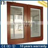 Latest french aluminum wooden frame door window grill designs