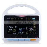 5 inch Touch Screen Multi parameter Patient Monitor with bluetooth function up to 15 hours running time