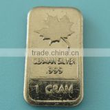 A95 1 Gram German Silver Maple Leaf Bar