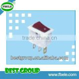 [Direct Manufacturer] T85 6/10/16A 125/250VAC 2/3/4/6 pins 2/3 ways illuminated Rocker Switch SMRS-101N-1
