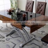 Lifting Dinning table and chairs for home used GZH-T1501B