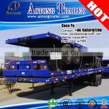 Electric emergency vehicle truck Aotong brand shipping Dual axis 40foot container container semi-trailer for sale