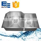 Double unequal bowl stainless steel kitchen sink                                                                                                         Supplier's Choice
