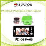 7 inch peephole hidden Door Wireless Camera , peephole door wifi camera                                                                         Quality Choice