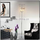 Free Shipping Modern Popular Crystal Floor Lamp, Chrome Floor Stand lighting Meerosee stand lighting FL10008