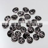 Latest 12mm Enamel Alphabet Snap Button For Interchangeable Ginger Snap Jewelry
