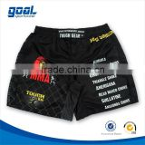 100% polyester men's mma sublimation printing custom kick boxing shorts