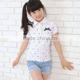 wholesale custom Toddler Girls Boutique Kids Polo Shirt and Top Fashion Girl T Shirt or Polo Neck T Shirt